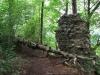 Hrad Holštejn - zbytky hradeb