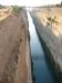 Korintský průplav focen z mostu