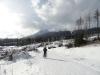 Lyžařská trasa pod vrcholky hor